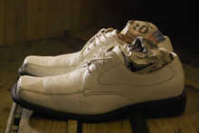 Sport Stuffed Pair of Shoes, a art object by Martin Gut, 2008